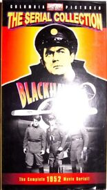 PACK OF 2 X VHS VIDEO TAPES OF CLASSIC 1940s/1950s CLIFFHANGER MOVIES, BLACKHAWK, SUPERMAN, ZORRO