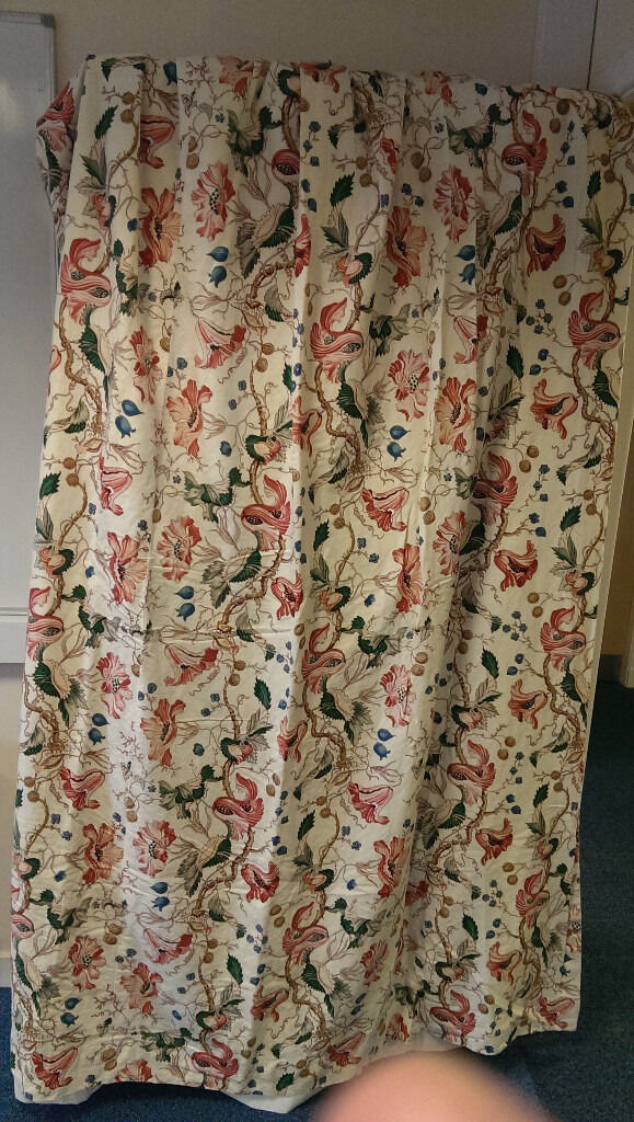 A Pair Of Vintage Nina Campbell Curtains
