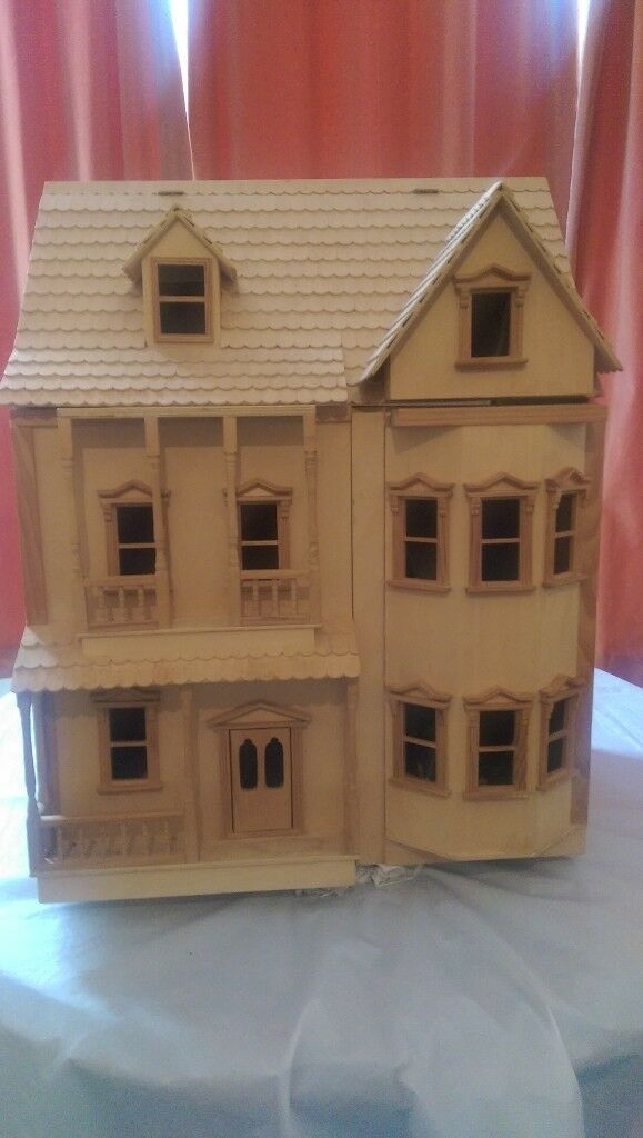 5 Christmas Discounts High Quality Modern Wooden Door: BEAUTIFUL VICTORIAN ASHBURTON DOLLS HOUSE WOODEN,1/12th