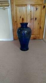 Blue lager vase