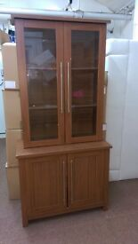 Display cabinet, Chestnut, Used £60