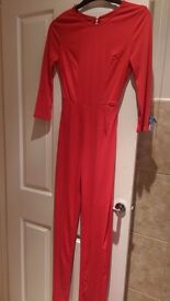 Red jumpsuit size 8.