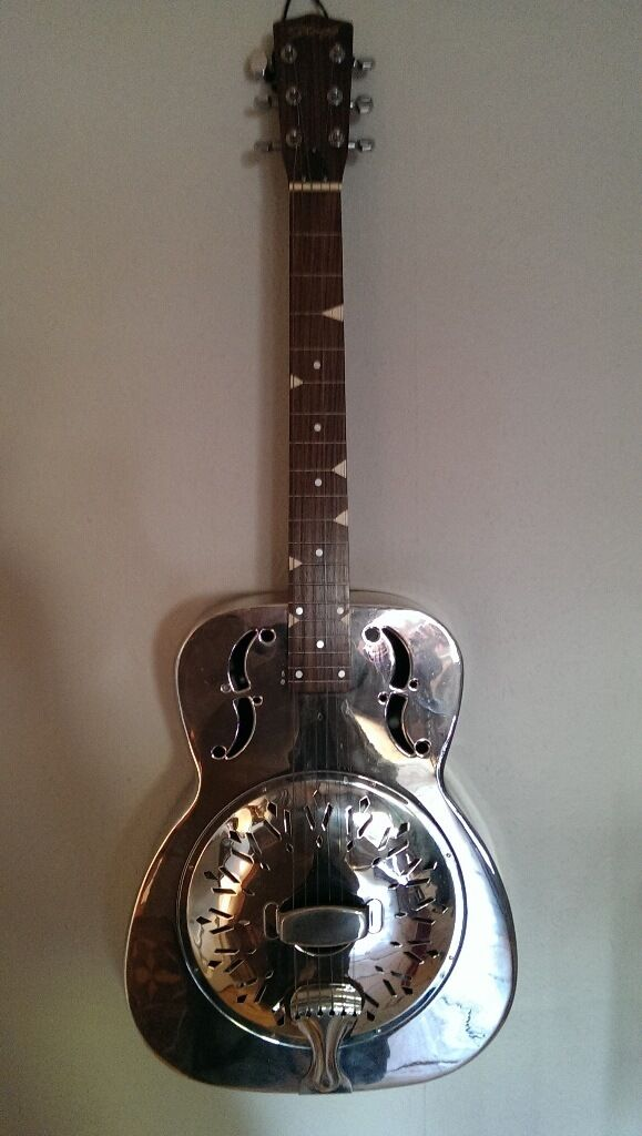 Stagg Resonator Guitar Style O Modified For Steel Playing Dobro