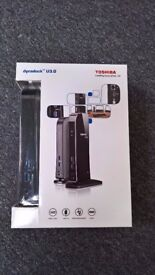 Toshiba dynadock U3.0 docking station for your laptop - buyer to collect
