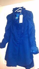 New blue coat size 6-8.