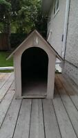 large dog house.