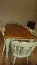 Shabby Chic Farmhouse Solid Dining Table
