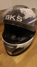 BKS Flow, Blue and White, Medium Helmet
