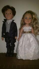 Design a friend bride & groom.
