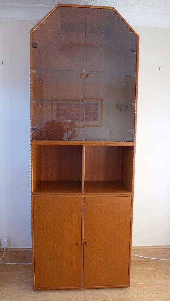 Ikea Display Cabinet With Solid Cupboard Doors Bookshelf And Top