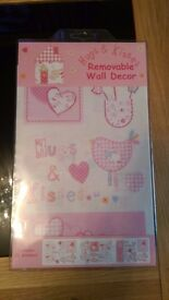 Brand new baby girl nursery stickers / decal