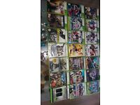 xbox 360 with 20 games and battery pack