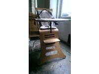 kuster wooden folding high chair (birch)