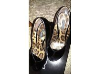 Genuine D&G leatjer patent heels size eu 39/6