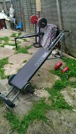 Bargain 50 for both weight bench and Olympic sport puller 60kg wrights
