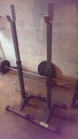 squat rack stands bodymax