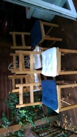 Six chairs for ten quid!