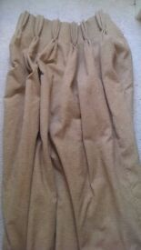 4x Large Lined Blackout Curtains - Beige