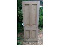 Stripped Wooden Internal Door