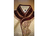 Indian Wedding Groom's Sherwani with matching Scarf and Khusa - Size 36