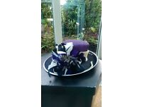Jacques Vert Mauve, Black and White Hat - Weddings, Christenings, Events