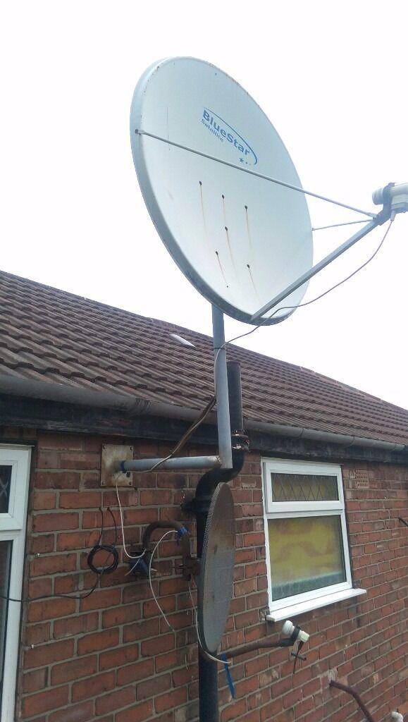 Satellite dish tv aerial antenna 1000 Blue star wall bracket