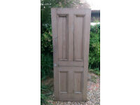 Stripped Wooden Internal 4 Panel Door