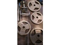BodyPower 120kg olympic weights tri-grip