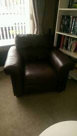 Next brown leather chair