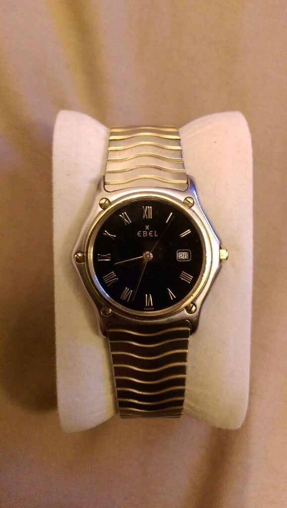 Ebel mens mid size watchin Rugby, WarwickshireGumtree - Ebel mens mid size quartz watch. 24 k gold and stainless steel. Sapphire glass. In excellent condition