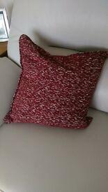 Dark red cushions