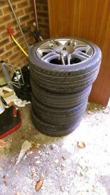 """TSR 15"""" alloy wheels x4"""