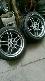Bmw parallel alloys wheels staggard