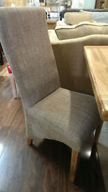 BRAND NEW TWEED FABRIC DINING CHAIRS