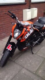 KTM Duke 125. 16 plate. Only one year old! After market exhausts included.