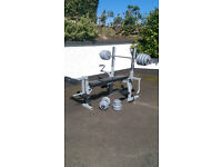 York Fitness Bench with 45kg Weights