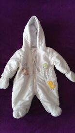 2 Baby snowsuits 0-3 months