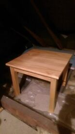 2 x solid pine coffee tables