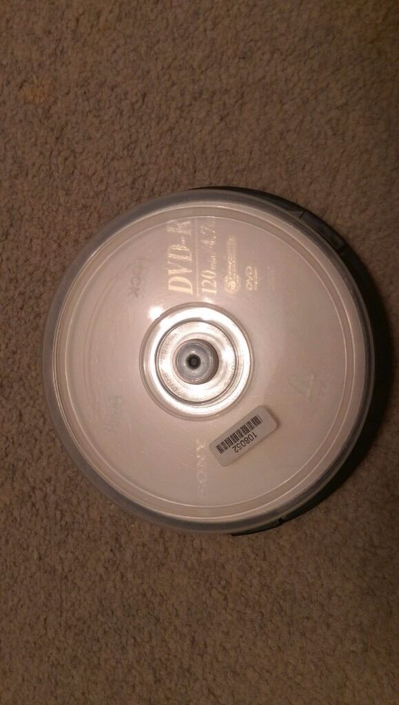 Pack of 10 Sony DVD-R 4.7 GB *COLLECTION ONLY*