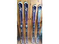 Ski's Salomon Slalom, Junior size + Poles