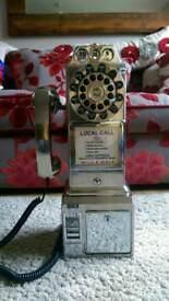 1950s Diner Phone, Chrome. Wild & Wolf
