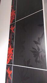 Ceramica Black Wall Bathroom Shower Tiles 36 cm x 25 cm . Total 15 tiles