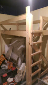 solid pine bunk / cabin bed