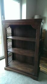 Jali solid wood bookcase