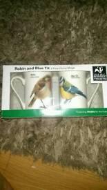 Brand new Robin and Blue tit 2 ( Fine China) mugs .