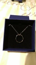 Swarovski Mens necklace with ring - £10