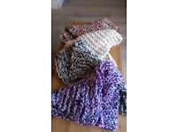 Hand-Knit Infinity Scarves / Neck Cosies