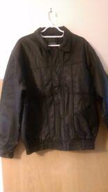 Savantini Classic Leather Jacket Mens XL