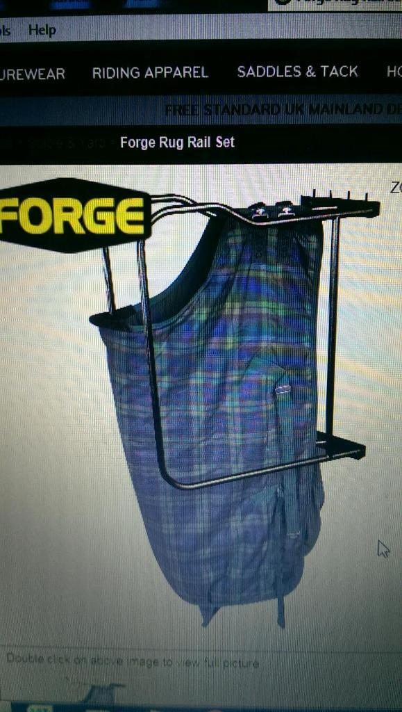 Forge Horse Rug Rail 2 Arm Brand New Still In Unopened Box