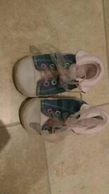 3-6 months denim pram shoes